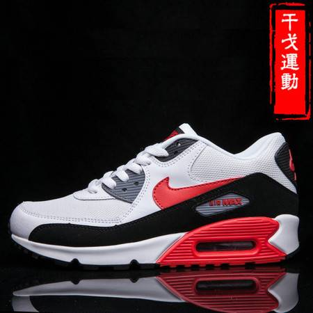 Nike Air Max 90耐克男鞋黑红白跑步鞋 慢跑鞋537384-112