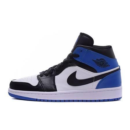 正品 NIKE男鞋 耐克女鞋 AIR JORDAN 1 MID乔丹1代篮球鞋情侣款