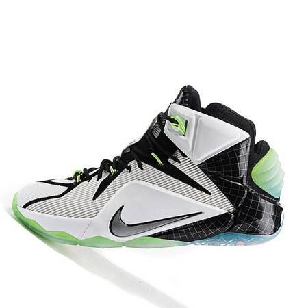 耐克男鞋Nike LeBron 詹姆斯LBJ12代 黑白红 复活节 3M反光男子篮球鞋707781