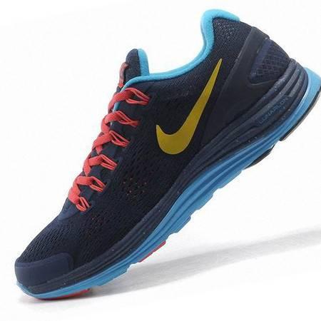 耐克男鞋正品LUNARGLIDE+4 登月4代 女鞋网面透气跑步鞋情侣运动鞋