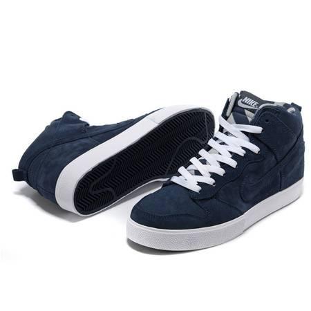 耐克男鞋Nike保暖高帮板鞋深蓝DUNK SB滑板鞋复古运动鞋