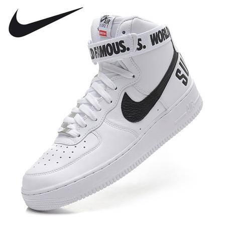 耐克高帮鞋Nike SUPREME AF1 HI空军一号AF1高帮板鞋