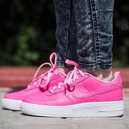 耐克空军一号板鞋女鞋GS新款骚粉球鞋AF1复古休闲鞋潮314219
