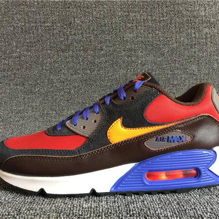 耐克男鞋新款网面透气AIR MAX 90气垫运动跑步鞋 708973-600