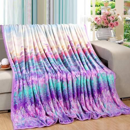 约克罗兰精品家纺金貂绒毯-普罗旺斯优生活