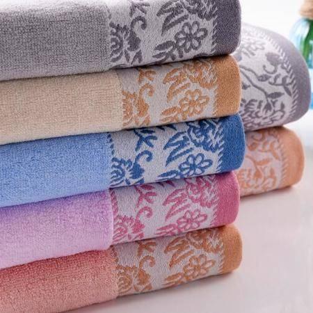 迪穆精品毛巾:色织提花大毛巾单条装 34cm×74cm * 1