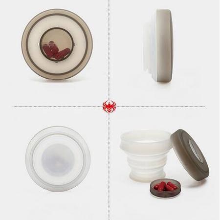 壳罗沃 创意时尚折叠收纳杯 水杯药盒 与众不同的收纳盒
