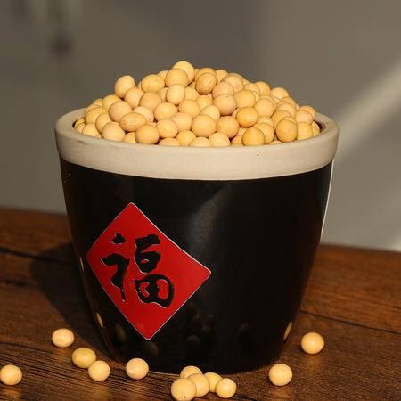 淮商 农家自产黄豆400g 天然土黄豆大豆浆黄豆