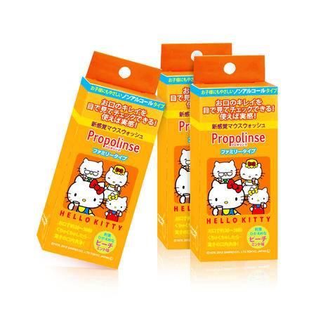 日本Propolinse比那氏原装水蜜桃味漱口水 三盒装 (12ml*6p/盒)