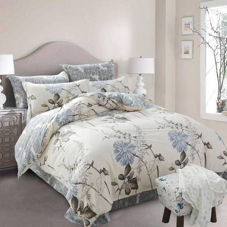 约克罗兰高支全棉床上用品四件套--一抹清香 包邮