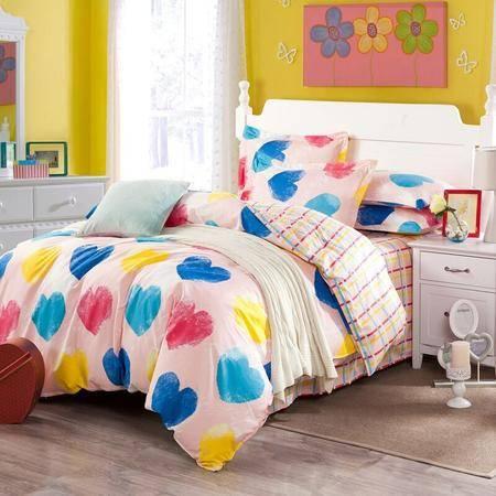 约克罗兰高支全棉床上用品四件套--开心魔法 包邮