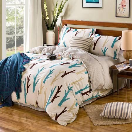 约克罗兰高支全棉床上用品四件套--爱情海 包邮