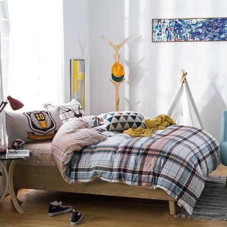 约克罗兰 精梳高支高密全棉活性印花四件套床品--演绎经典 包邮