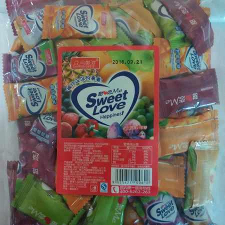 包邮  日本进口特产 什锦果汁软糖2*500g 休闲食品