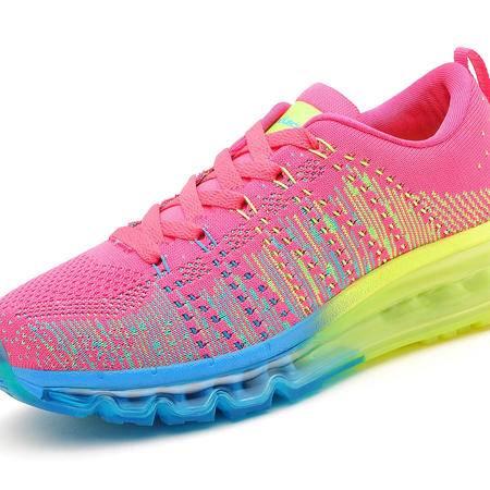 5X005莫蕾蔻蕾2015款飞线气垫跑步鞋运动鞋百搭秋季新款编织鞋女鞋