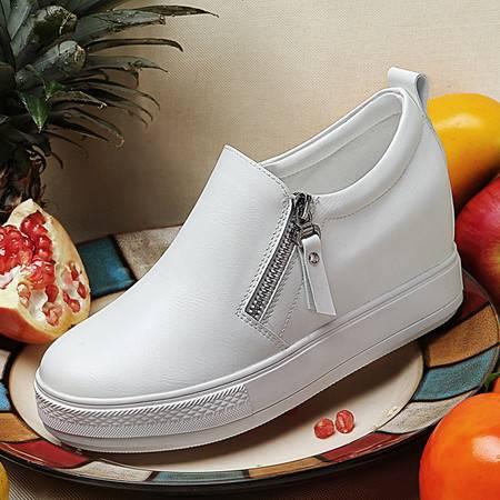 百年纪念内增高女鞋春季新款1140厚底低帮鞋休闲鞋子女冬韩版潮运动鞋