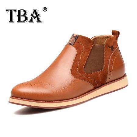 牛头酋长TBA 布洛克雕花男鞋真皮休闲鞋秋季保暖英伦l懒人复古潮鞋男士皮鞋