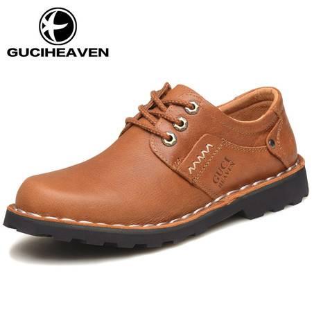 GUCIHEAVEN/古奇天伦 新款男鞋男士休闲皮鞋时尚大头鞋男鞋工装鞋马丁鞋AC81361
