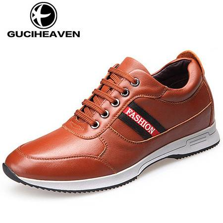 GUCIHEAVEN/古奇天伦 冬季男士隐形内增高男鞋6cm运动休闲鞋旅游鞋子韩版潮流AY81701