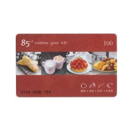 85度C 100元型蛋糕卡 面包券 现金券全国通用