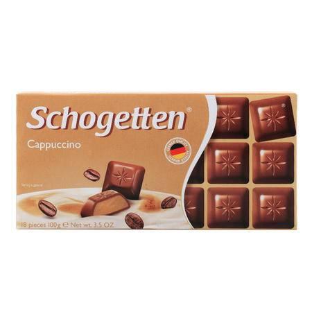德国进口美可馨卡布基诺味小方块巧克力100g 德国进口零食 18小块高性价比