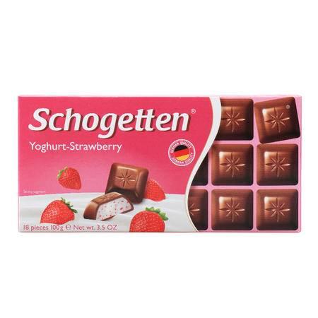 美可馨酸奶草莓味小方块巧克力100g 德国进口食品 18小块高性价比