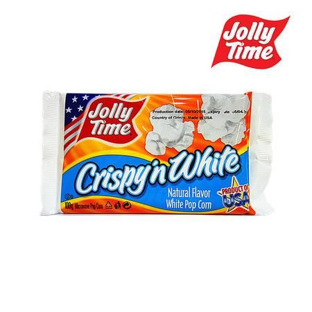 乔里/JOLLY TIME 香脆白微波炉爆米花 100g  进口食品