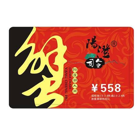 阳澄司令 阳澄湖大闸蟹558型 4对装 2.0两-2.4两/母 3.0两-3.4两/公