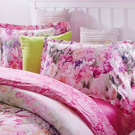 奥拉芙 床上用品 春秋被 100%棉 棉斜纹面料 贴肤性好 香榭丽舍 OL-SC403四件套