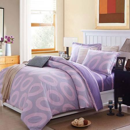 奥拉芙 床上用品 春秋被 双人被 100%纯棉 棉斜纹面料 贴肤性好 罗曼园 OL—SC401四件套