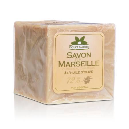 柔舒然Douce Nature 天然橄榄油多功能马赛皂绿肥皂300g 原装进口