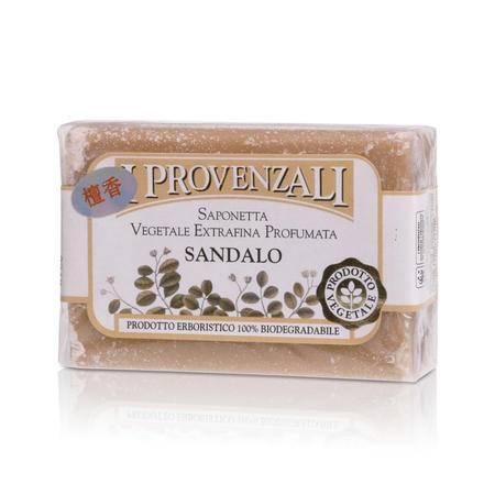 爱普罗雅丽IPROVENZALI 原装进口天然浪漫彩虹植物香水洁面 滋润美容皂檀香100g