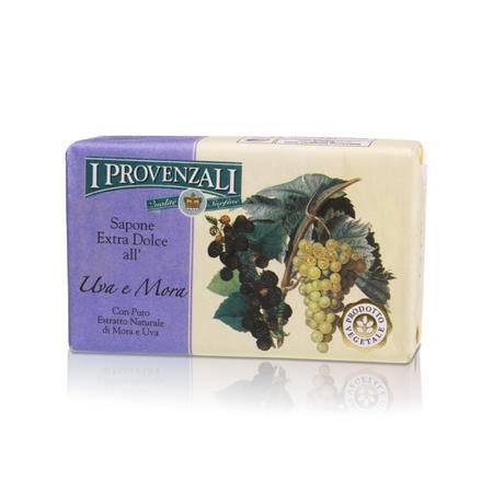 爱普罗雅丽I PROVENZALI 原装进口天然香甜水果洁面美容皂葡萄黑莓150g