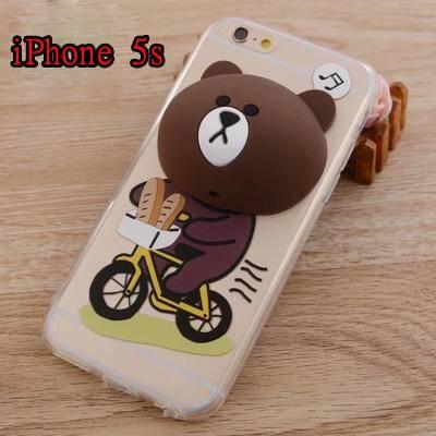 艾米娅 新款苹果6S可妮兔布朗熊iphone6手机壳4.7卡通支架苹果5S保护套女