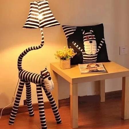 艾米娅 萌猫条纹猫落地灯客厅灯具卧室书房装饰台灯