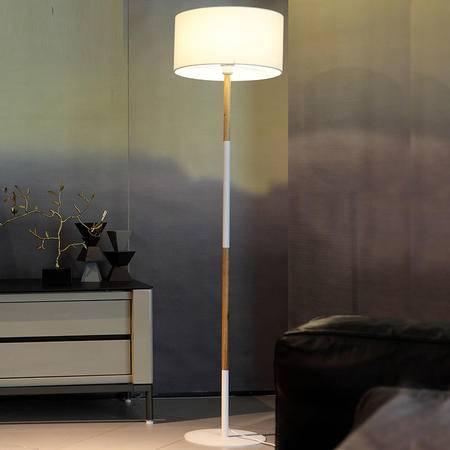 艾米娅 北欧现代木质金属落地灯温馨卧室书房阅读过道客厅落地台灯