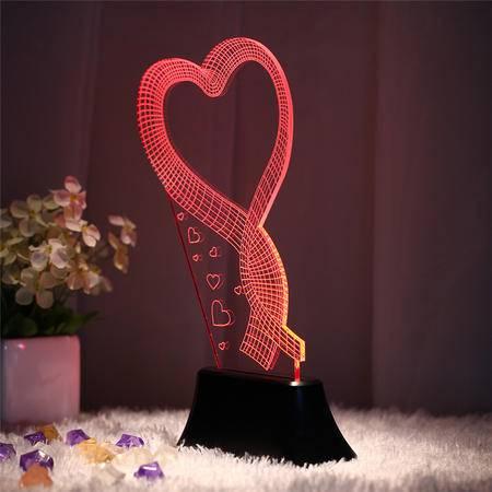 艾米娅 led灯3D氛围立体灯卧室床头小台灯小夜灯创意浪漫七夕情人节礼物