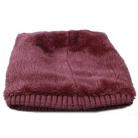 艾米娅 针织毛线老人帽子女奶奶保暖中老年人帽子女秋冬季妈妈婆婆帽围巾