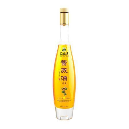 品益坊压榨紫苏籽油275ml 紫苏子油 亚麻酸63%苏籽油