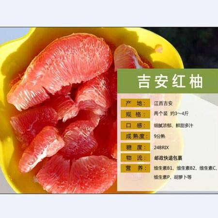 吉安特产 吉安蜜柚 井冈红心蜜柚2个装约3-4斤活动价19.9元