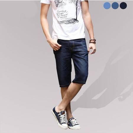 【江西农商】衣佰惠 男士牛仔裤短裤五分裤夏季牛仔中裤马裤男薄款男士牛子裤