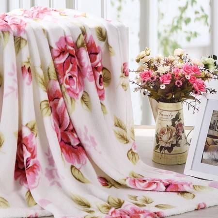 博洋印花珊瑚绒毯