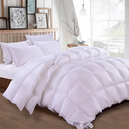 澳洲Downia 95%白鸭绒子母被家居一被多用羽绒子母被子被芯白色 200*230CM 3780g