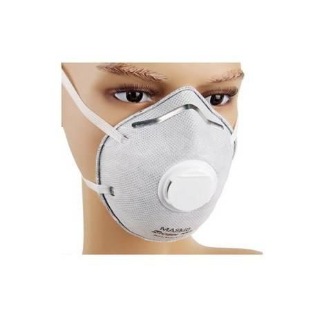 MASkin 6175活性炭呼气阀型杯型防护口罩20只装(防抗PM2.5雾霾禽流感H7N9