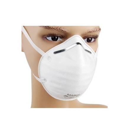 MASkin 6155呼气阀加强型 头戴式杯型防护口罩5只装(防抗PM2.5雾霾禽流感H7N9