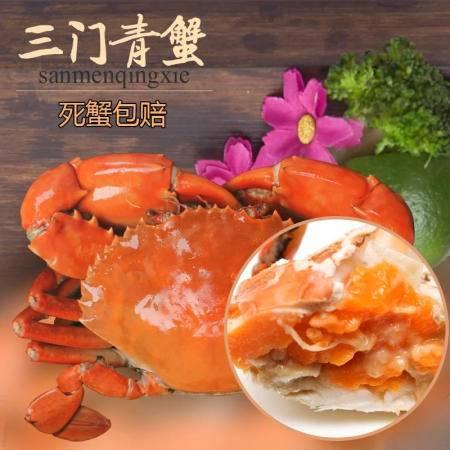 三门青蟹三门青蟹鲜活海鲜大螃蟹海蟹膏蟹肉蟹黄油蟹 现货产地直发[单身装]