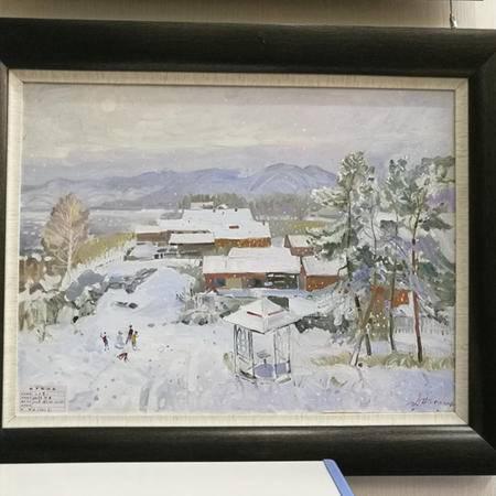 俄罗斯人民画家油画《大雪》 具有收藏升值价值