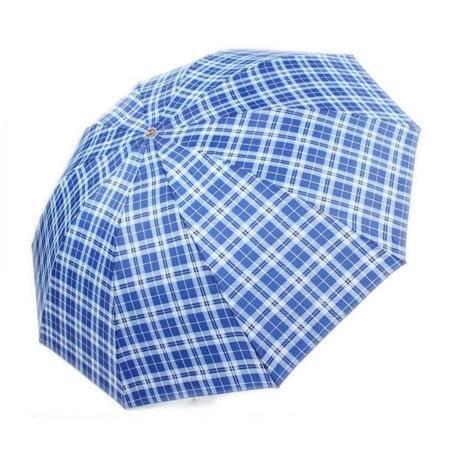 天堂伞300T+格子太阳伞   钢杆钢骨雨伞  颜色随机