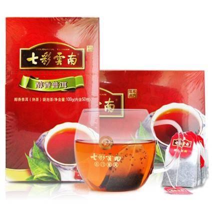 七彩云南100g醇香普洱袋泡茶(熟茶) 50袋/盒