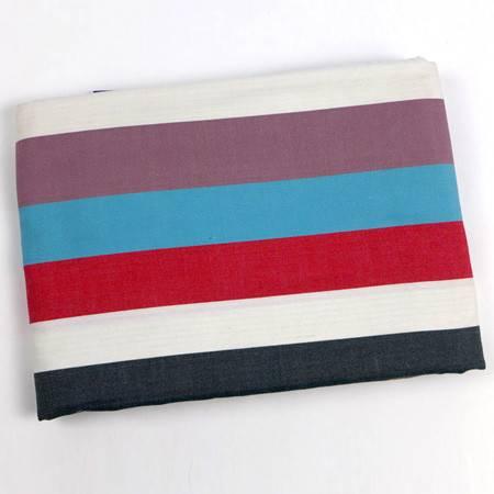 锦绣大号薄布床单蓝红白多色条纹2.5*2.5米